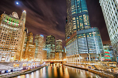 Colorful Buildings Photograph - Nightlight by Joel Olives