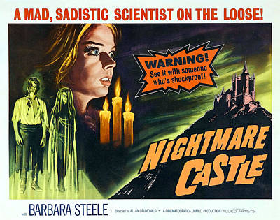 Horror Movies Photograph - Nightmare Castle, Top Left Barbara by Everett