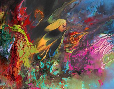Nightmare Art Print by Miki De Goodaboom