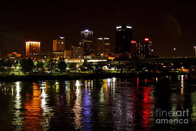 Nights In Little Rock Art Print