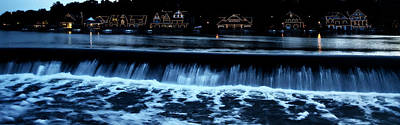Rowing Crew Digital Art - Nighttime At Boathouse Row by Bill Cannon