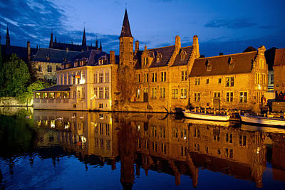 Photograph - Nighttime Brugge by David Freuthal
