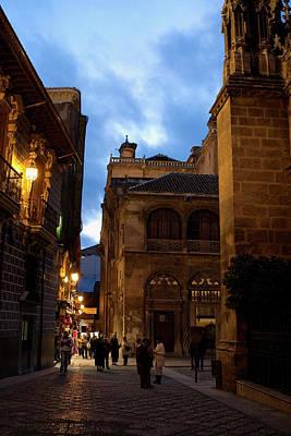 Photograph - Nighttime Granada by Lorraine Devon Wilke