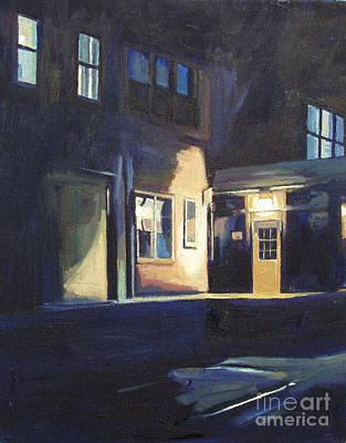 Boston Painting - Nighttime II by Deb Putnam