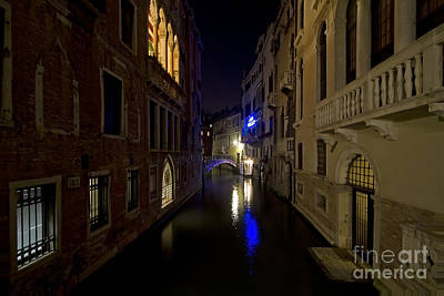 Photograph - Nighttime Venice by Dennis Hedberg