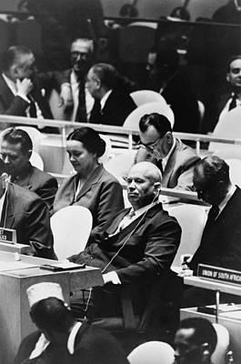 Nikita Photograph - Nikita Khrushchev Front, Center, Leader by Everett