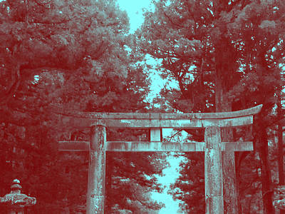 Temple Photograph - Nikko Gate by Naxart Studio