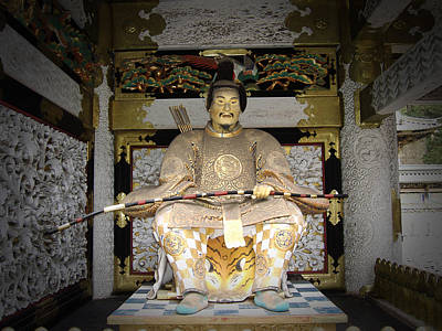 Samurai Photograph - Nikko Golden Sculpture Front by Naxart Studio
