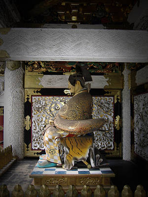 Temple Wall Art - Photograph - Nikko Golden Sculpture by Naxart Studio