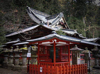 Warriors Photograph - Nikko Monastery Building by Naxart Studio