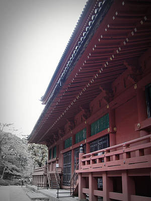 Temple Photograph - Nikko Monastery by Naxart Studio