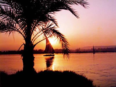 Nile Sunset Art Print by Kurt Van Wagner