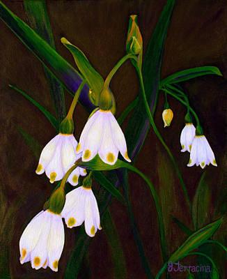 Art Print featuring the painting Nina's Snowflake Bells by Jodi Terracina