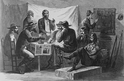 Nine Men At A Secret Meeting Art Print by Everett