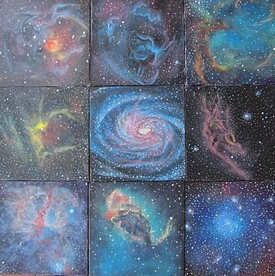 Nine Nebulae Art Print by Alizey Khan