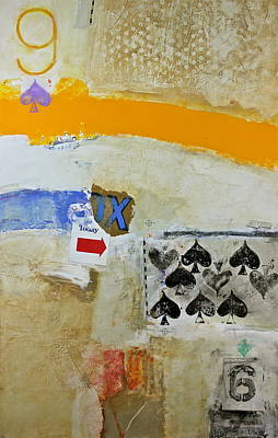 Painting - Nine Of Spades 19-52 by Cliff Spohn