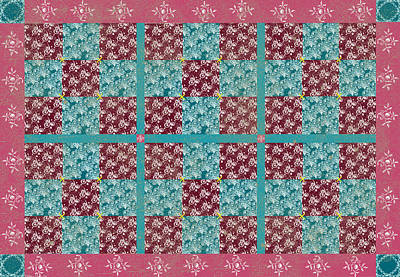 Digitally Created Photograph - Nine Patch Quilt Pattern  by Debbie Portwood