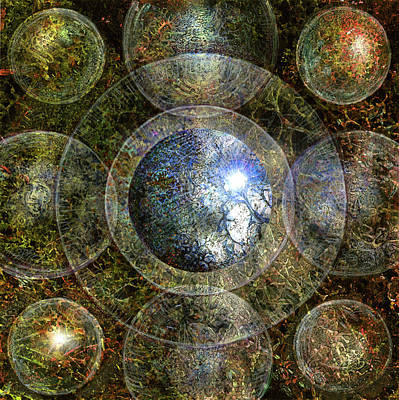 Painting - Nine Spheres To Enlightnenment by Joe MacGown