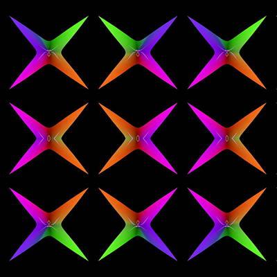 Balck Art Digital Art - Nine Spider Stars by Visual Artist Frank Bonilla