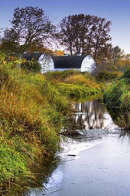 Nisqually Wildlife Refuge P21 The Twin Barns Art Print by David Patterson