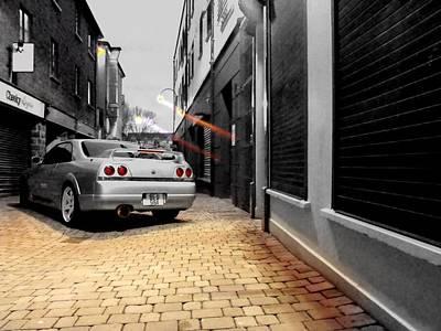 Nissan R33 Skyline Art Print by Eddie Armstrong
