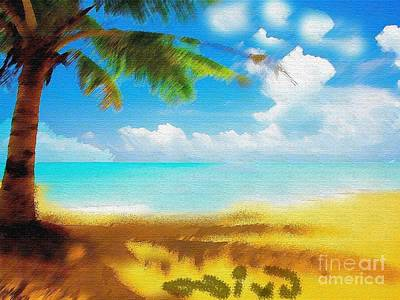 The Matrix Painting - Nixo Landscape Beach by Nicholas Nixo