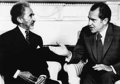 Nixon Presidency. Emperor Haile Art Print