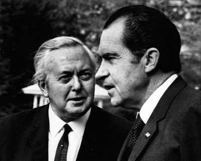 Nixon Presidency. Former British Prime Art Print