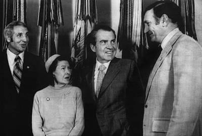 Nixon Presidency. From Left Former New Art Print by Everett