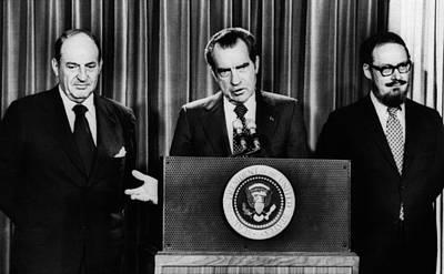 Nixon Presidency.  From Left William Art Print by Everett