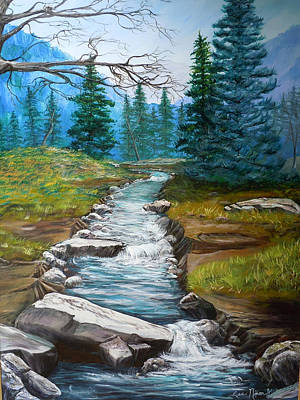 Nixon's Bubbling Running Creek Art Print by Lee Nixon