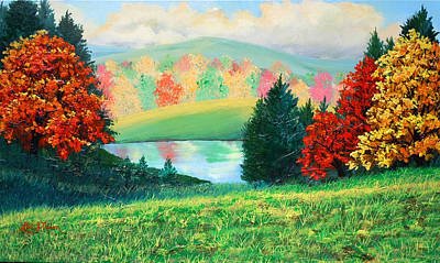 Painting - Nixon's Dazzling View Near The Rapidan by Lee Nixon