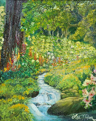Painting - Nixon's Landscape With Colorful Blossoms by Lee Nixon