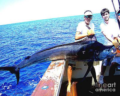 Photograph - No. 12 350 Lb Marlin Onboard by Merton Allen