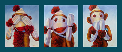 Painting - No Bad Stuff Triptych by Shannon Grissom