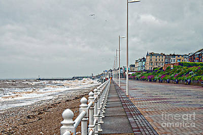 Colourfull Photograph - No Bathing Today by David  Hollingworth