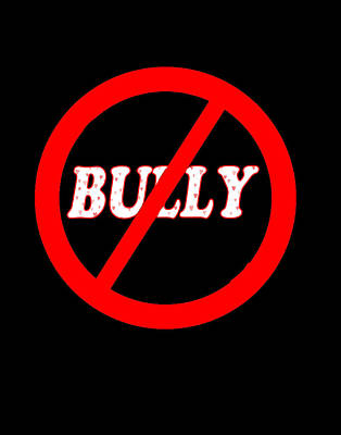 Anti-bullying Digital Art - No Bully Zone by Linda Diane Taylor
