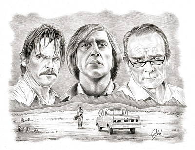 No Country For Old Men Art Print by Jamie Warkentin