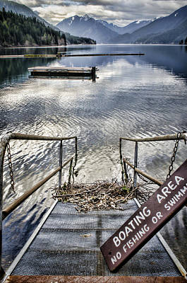 Olympic Photograph - No Fishing by Heather Applegate