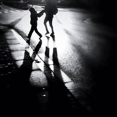 Shadow Photograph - No Jay Walking. #people #shadow by Robbert Ter Weijden