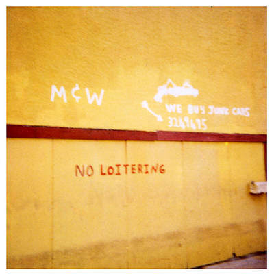 Photograph - No Loitering by Doug Duffey