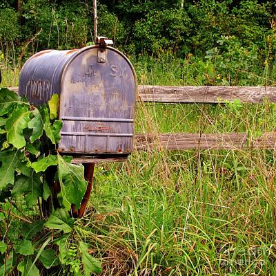 Fence Row Photograph - No Mail Today by Marilyn Smith