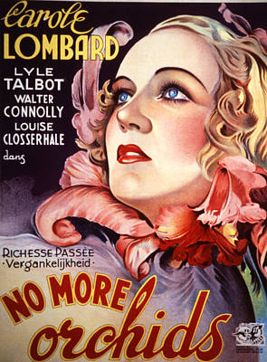 Postv Photograph - No More Orchids, Carole Lombard, 1932 by Everett