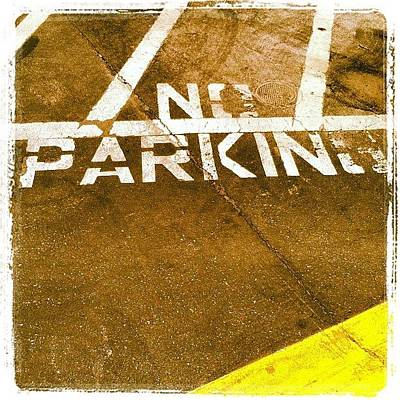 Abstract Wall Art - Photograph - No Parking by Gwyn Newcombe