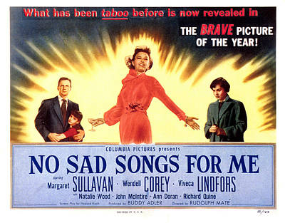 Fid Photograph - No Sad Songs For Me, Wendell Corey by Everett