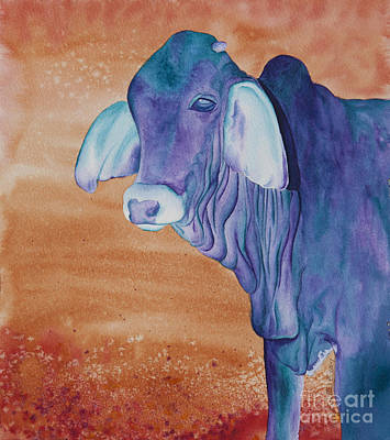 Steer Painting - No Starch Added Aka Eeyore by Tracy L Teeter