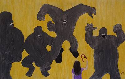 Slingshot Drawing - No Temere by Jessica Cruz