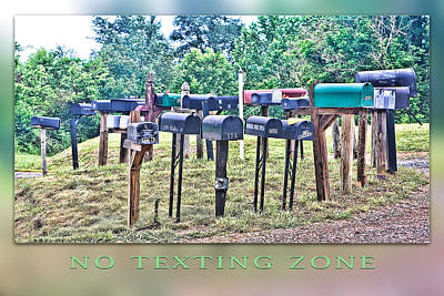 No Texting Zone Art Print by Stephen Warren
