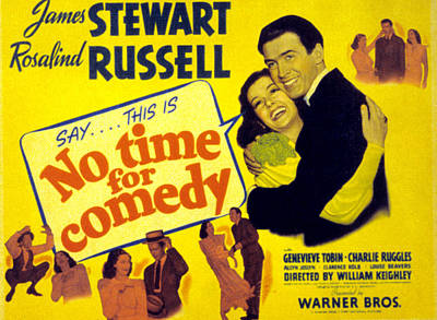 No Time For Comedy, Rosalind Russell Art Print