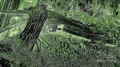 Art Print featuring the photograph No Trespassing  by Garnett  Jaeger